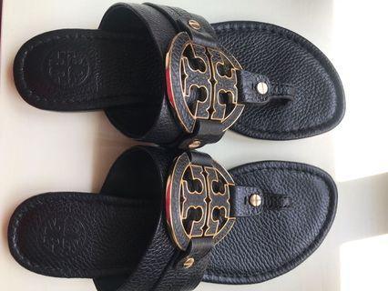 Tori Burch Black Sandals