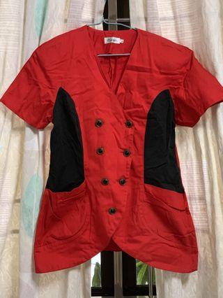 Whole Formal Suit Red Jacket and Long Black Pants