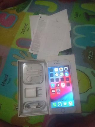 iPhone 6 64gb Gold fullset inter ori bukan refurbis