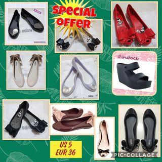$5 off Melissa shoes US 5 Eur 36 in stock