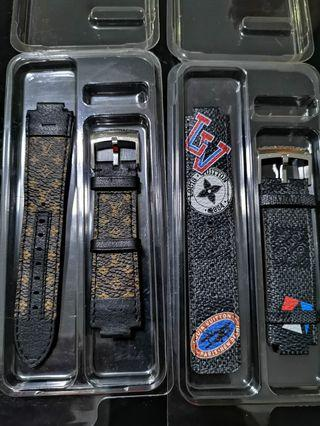 Louis Vuitton Tambour Watch Canvas Straps