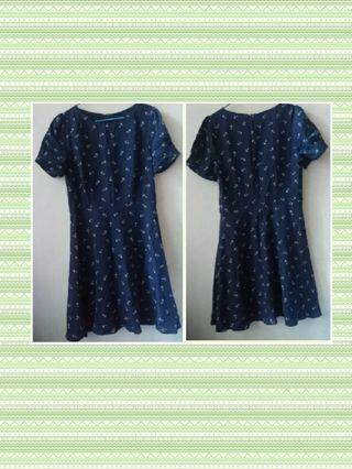 Oasis深藍色連身裙
