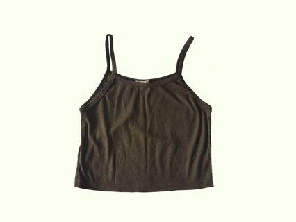 🚚 army green square neck tank