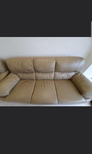 🚚 Lorenzo Genuine Leather 3 Seater Sofa