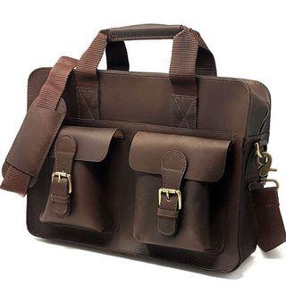 🚚 Leather Briefcase