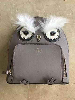 🚚 Kate spade owl Tomi backpack