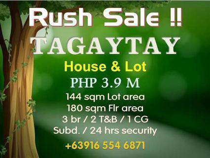 Tagaytay House and Lot For Sale Rush 3.9M