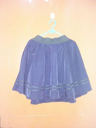 Blue Flare Skirt / Rok Navy