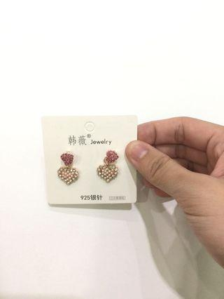 [maycurve] - fashion earring / accessories - love sparkle golden