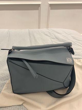 Loewe stone blue puzzle bag medium
