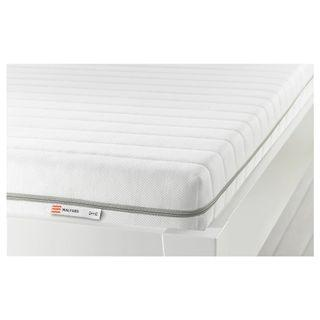 IKEA MALFORS Foam Mattress 90x200cm Medium Firm White