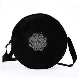 Brand New Black Yoga Wheel Bag with Mandela Flower design