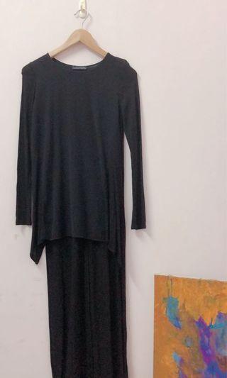 Zara前短後長設計感上衣