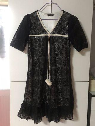 連身裙(黑色)M碼