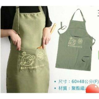 🚚 超可愛 茶茶小王子烹飪圍裙 可愛圍裙 綠色