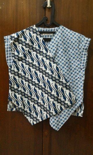 Blouse Batik Biru