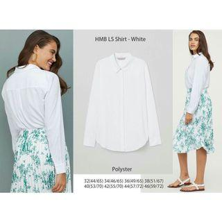 HnM long white blouse
