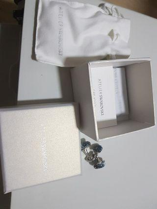 ATELIER SWAROVSKI CUFFLINKS jewelled authentic with carebook and dustbag