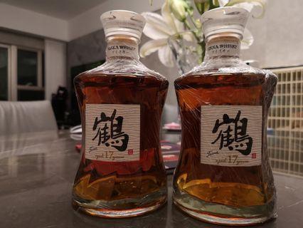 2支 鶴 tsuru 17年 700ml 全新 激罕 未開  (Nikka 一甲 余市 宮城峽)Whisky 威士忌 日威