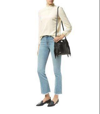 Maje Slim Fit Mid-Rise Bootcut Jeans EU36