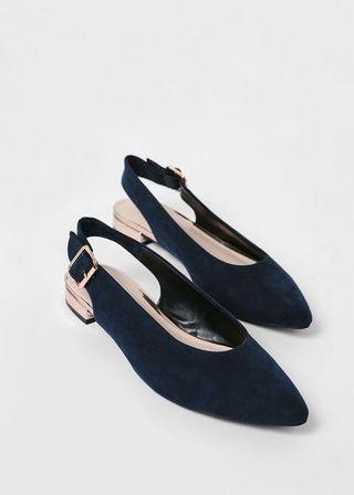 Love, Bonito • Faustine Pointed Slingback Flats (Size 41)