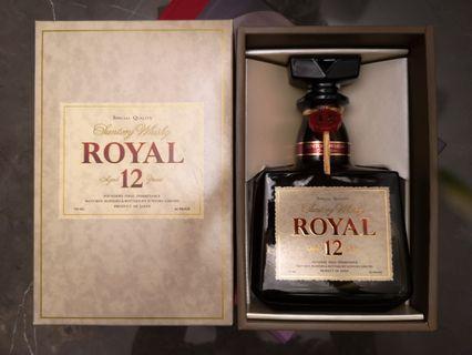 Royal 12 年 完美樽身 水位 盒完全冇歲月痕跡 Suntory 三得利 山崎 響 白州