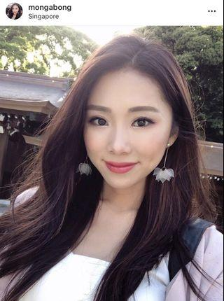 🚚 BNIP Floral Petals Earrings