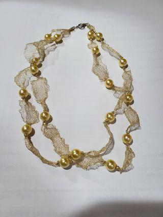 金色雙層珠珠頸鏈