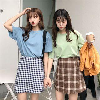 #299 (8 COLOURS) candy coloured pastel plain basic t shirts ulzzang korean top (dark blue/turqoise/mint/pink/grey/light blue/purple/cream)