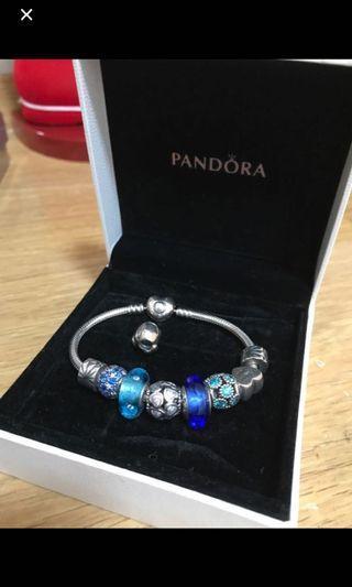 Pandora Bracelet 手鏈 8粒charms