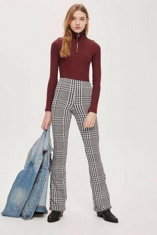 Topshop patterned flared pants