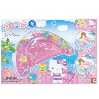 🚚 (Free Delivery) Sanrio Hello Kitty Pink Sit & Float Inflatable Swimming Float with Handle