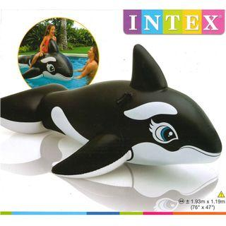 🚚 (Free Delivery) Intex Black Whale Animal Ride On Inflatable Swimming Float