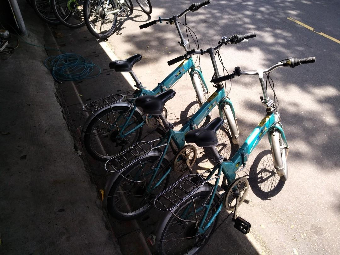 4099元!二手捷安特鋁合金 20吋六段變速摺疊腳踏車!(FD806)藍色
