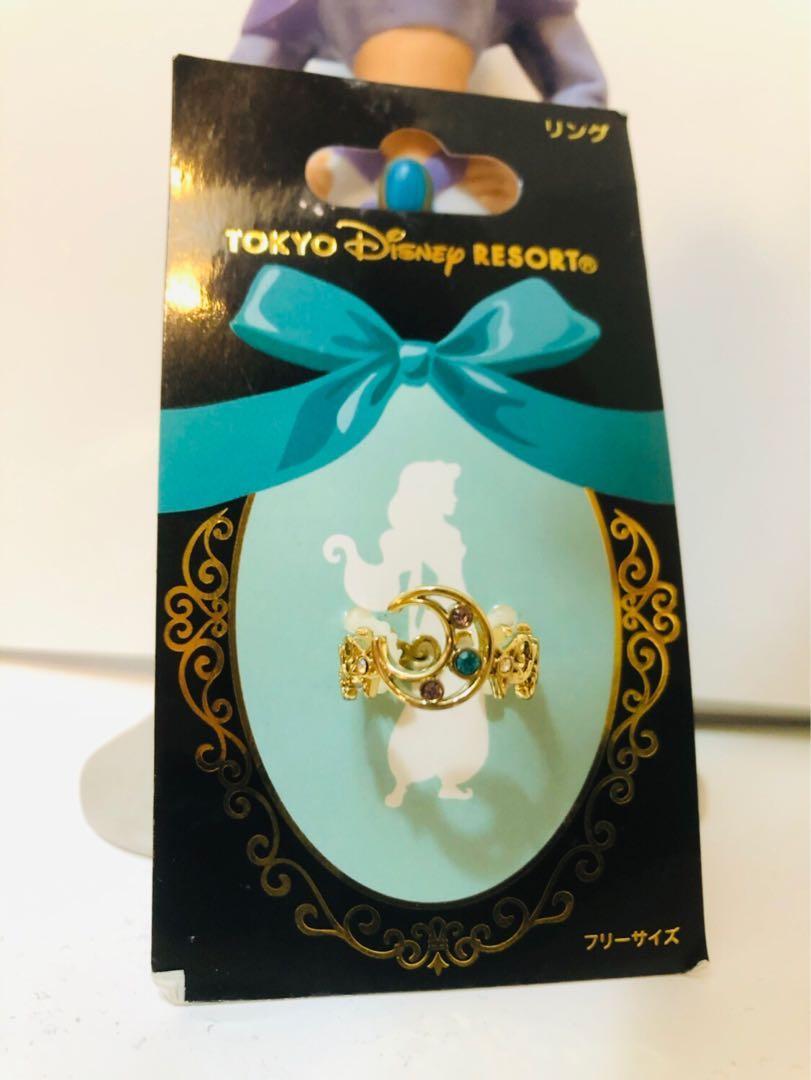 絕版阿拉丁 日本迪士尼 苿莉公主 月亮介指Disney Jasmine Aladdin ring necklace