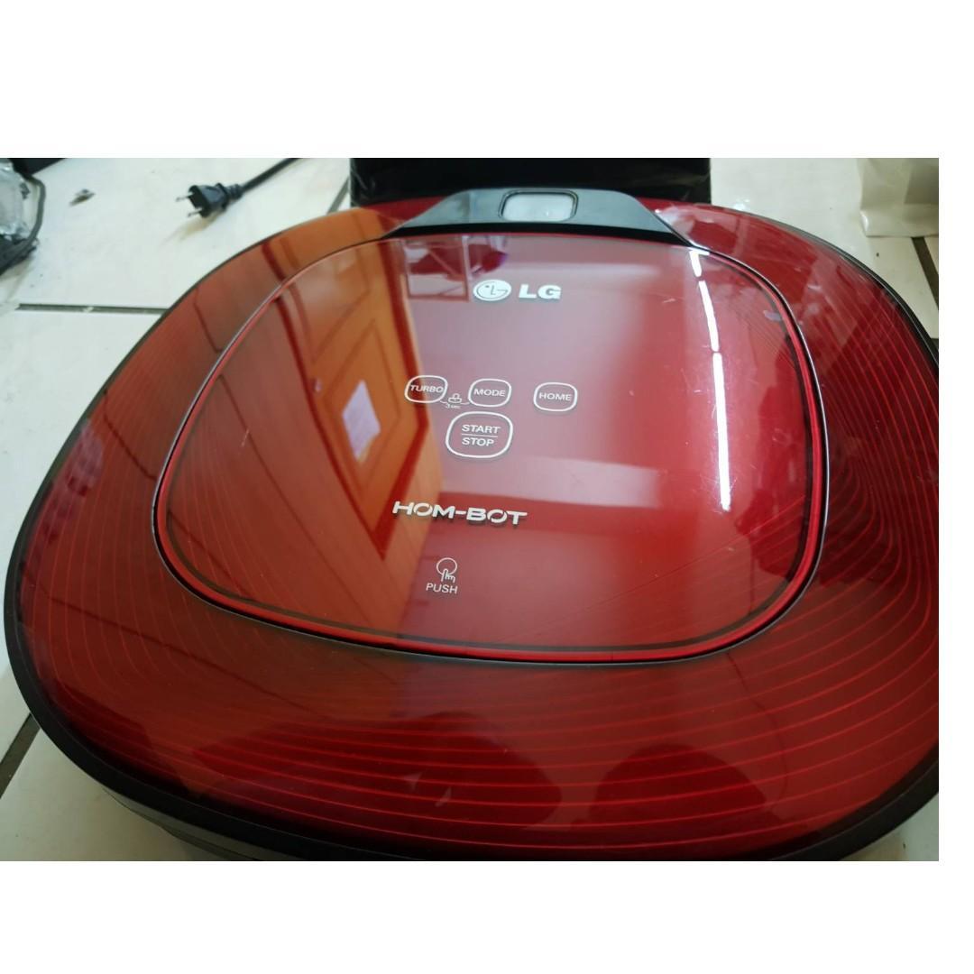二手 LG掃地機器人紅色款-VR6270LVM 配件齊全附說明書 取代VR6340LVM