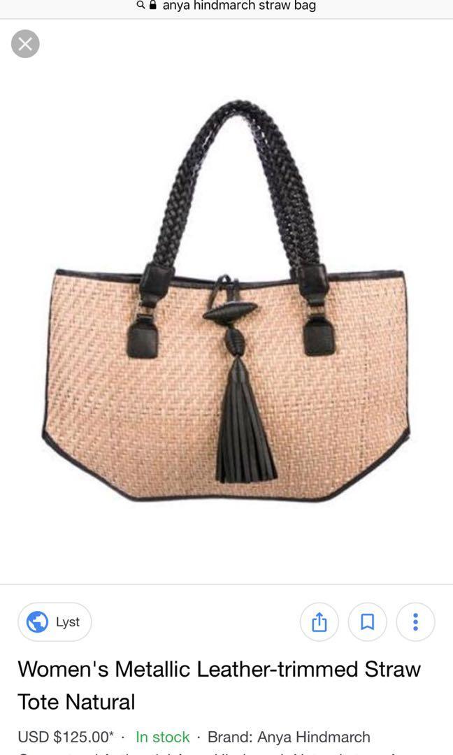 Anya Hindmarch Straw Bag