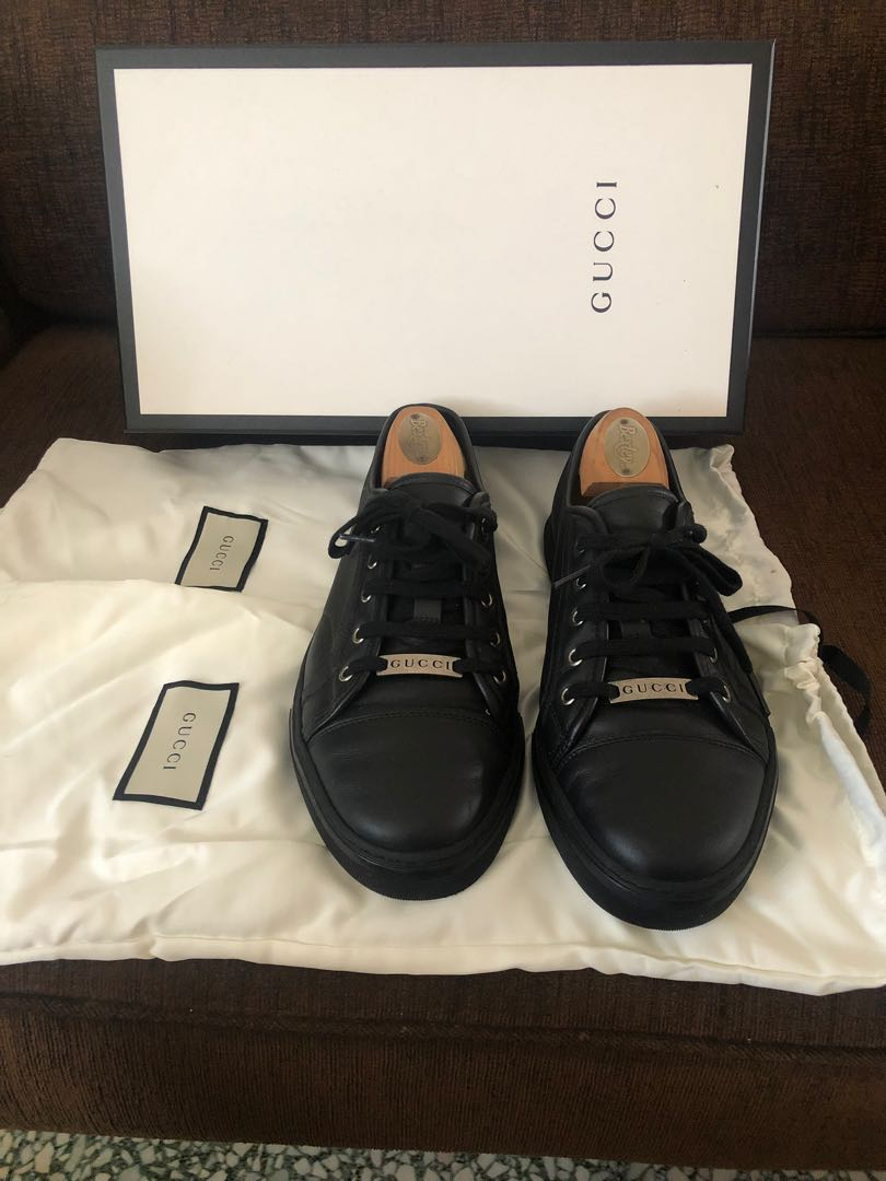 600be955c Authentic Gucci Men's Leather Sneaker, Luxury, Shoes on Carousell