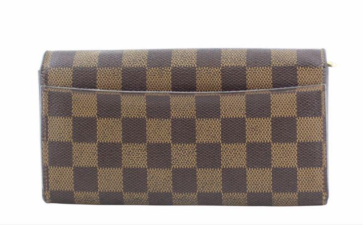 AUTHENTIC Louis Vuitton Sarah Wallet Daniel Ebene Canvas