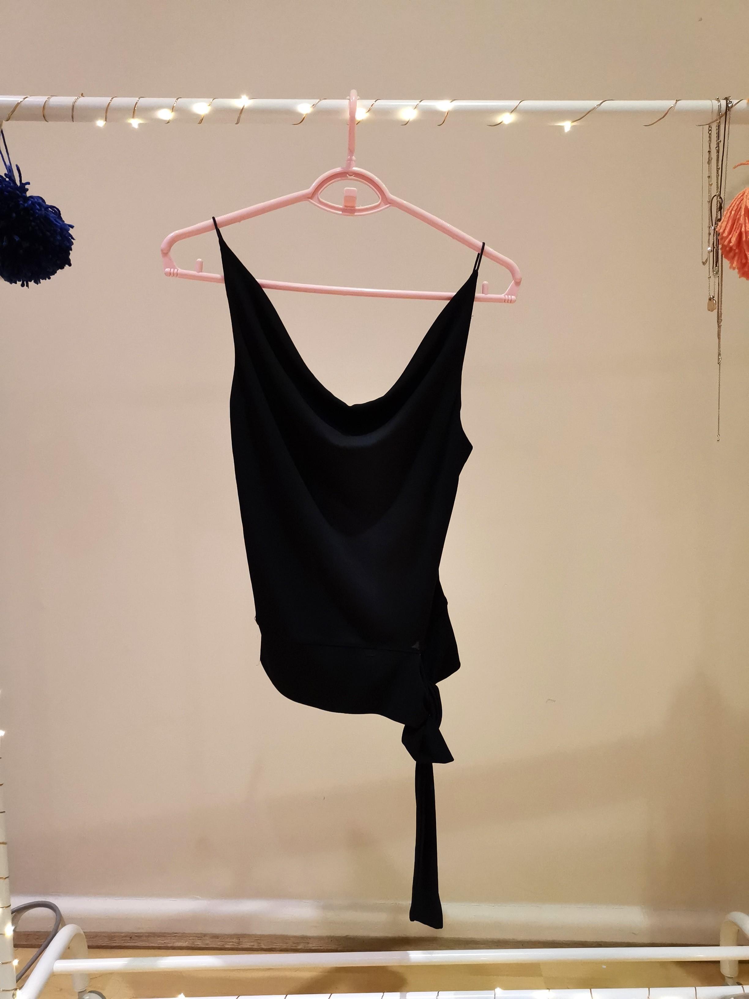 Black drapey top