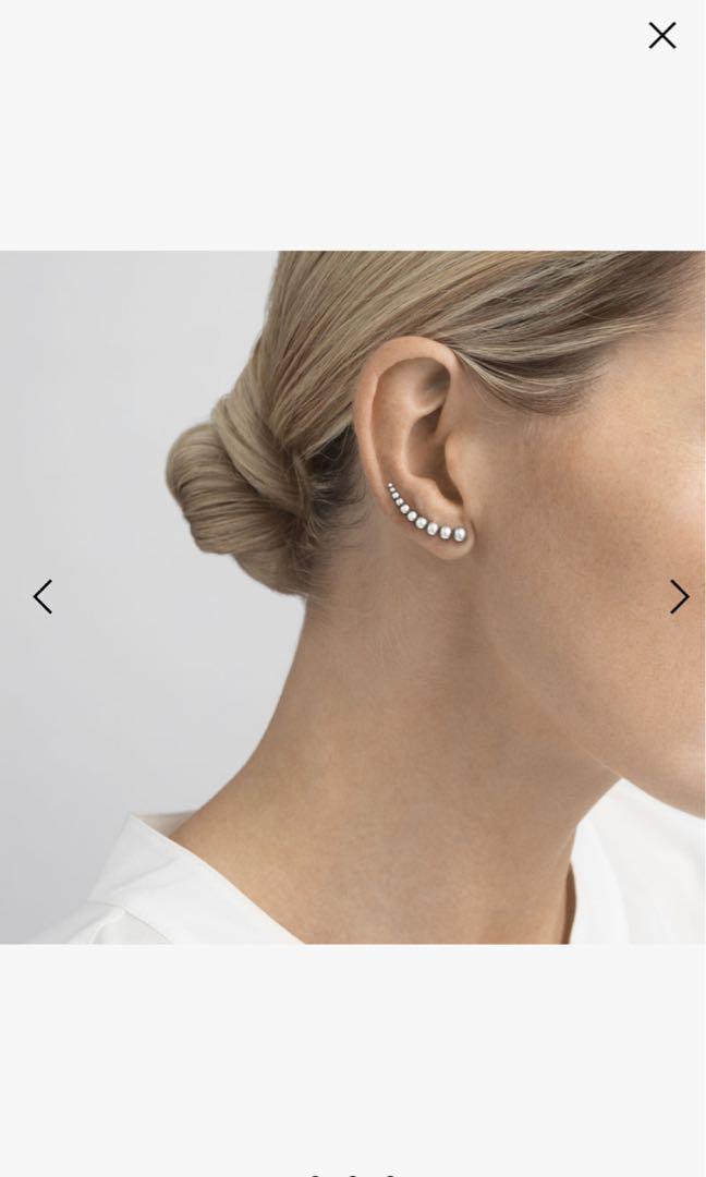 Brand new Georg Jensen Moonlight Grapes sterling Silver earrings