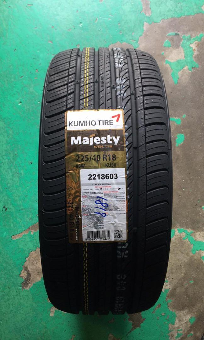 Brand new kumho majesty ku50 225/40/18