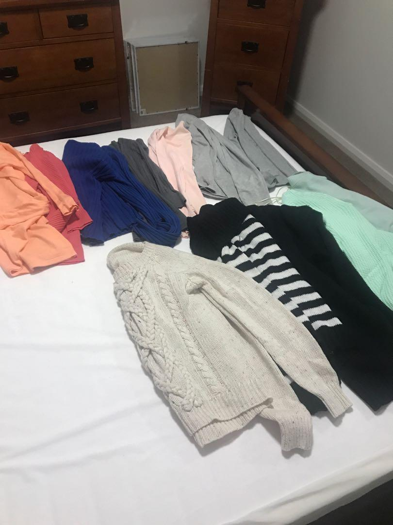 Bulk lot of winter tops/jumpers