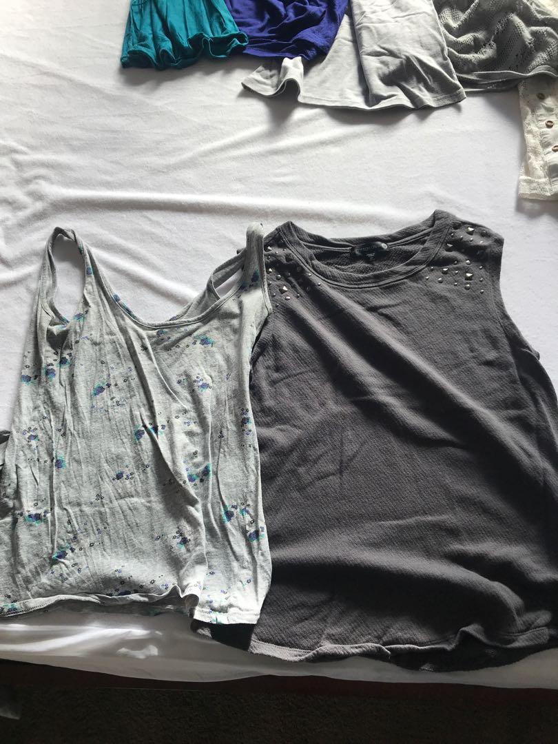 Bulk sell of summer tops, singlets etc