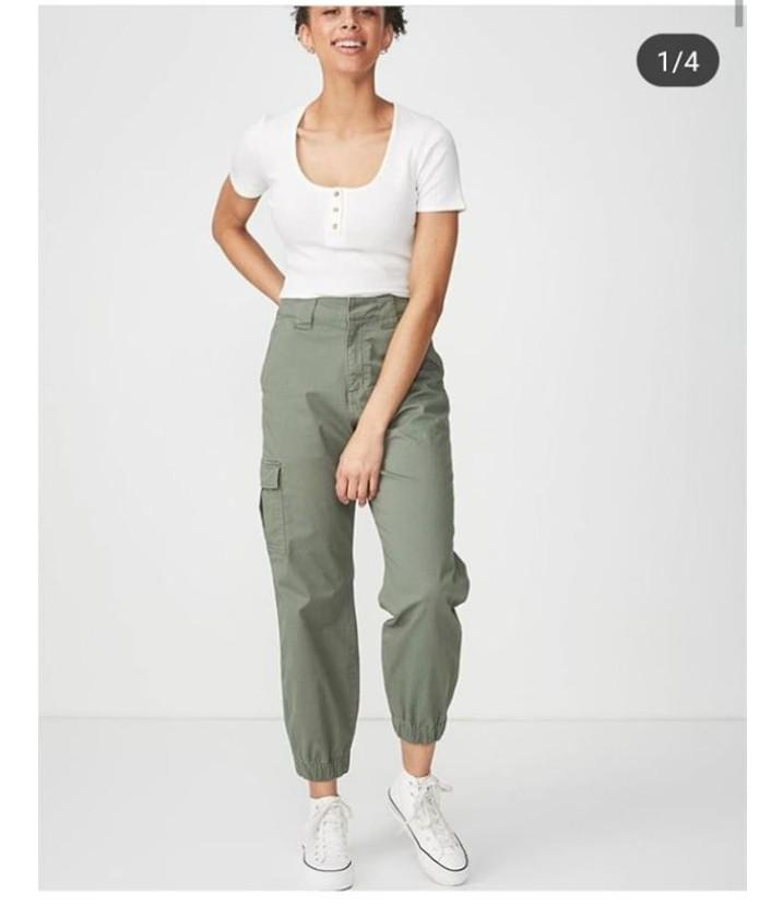 cheaper sale biggest selection top style Cotton on Utility/cargo pants (army green) on Carousell