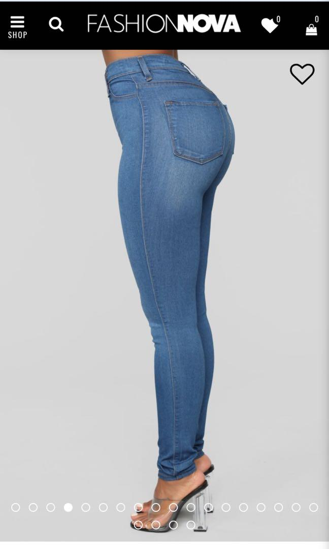 Fashionnova classic high waist jeans - medium blue wash