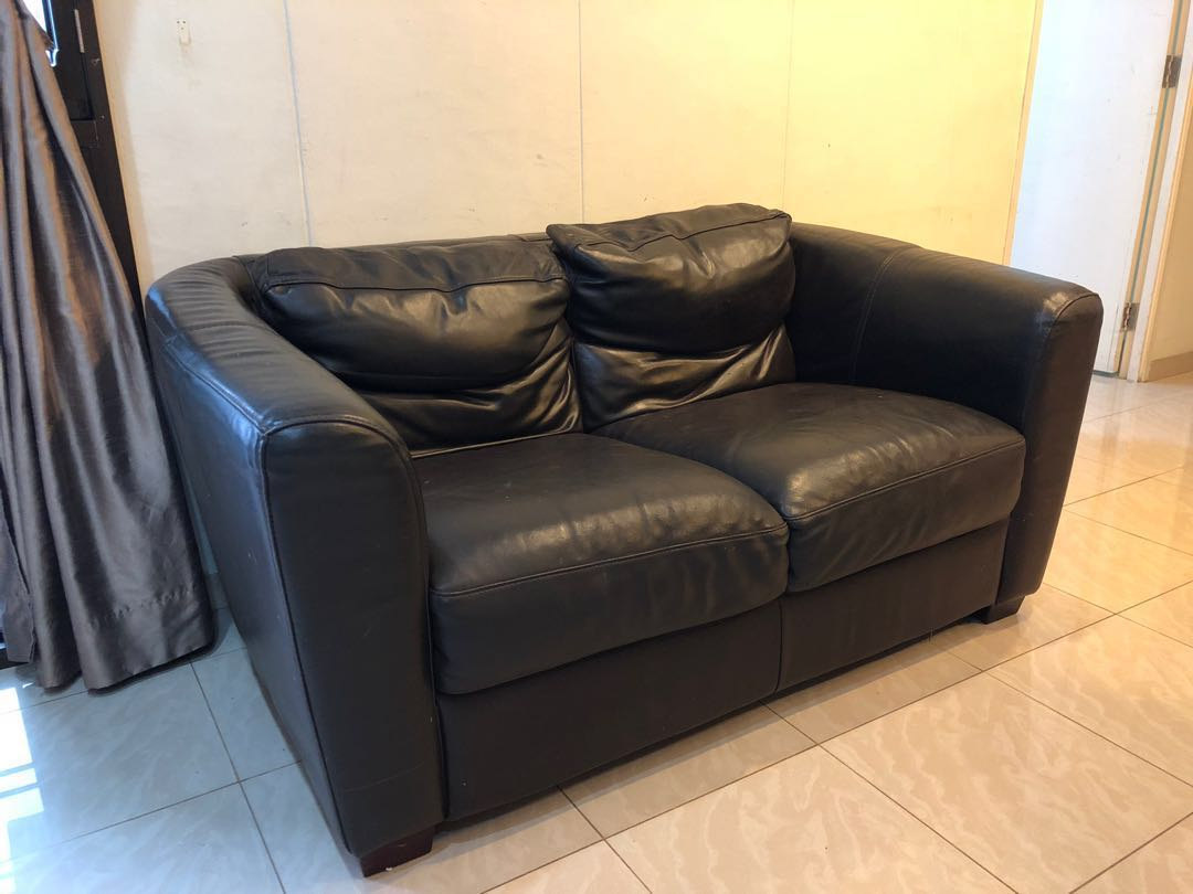 Miraculous Fire Sale 2 Seater Real Leather Sofa Machost Co Dining Chair Design Ideas Machostcouk