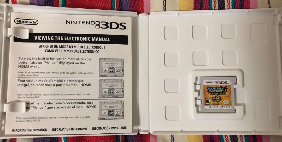 Fossil Fighters Frontier 3DS Nintendo Dinosaur Game, Toys