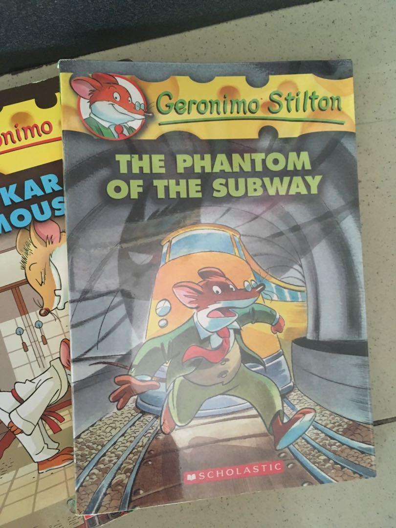 Geronimo Stilton 5books This Hotel is Haunted, The Phantom of the Subway, The Karate Mouse, A Fabumouse Vacation, Thea Stilton and Ice Treasure