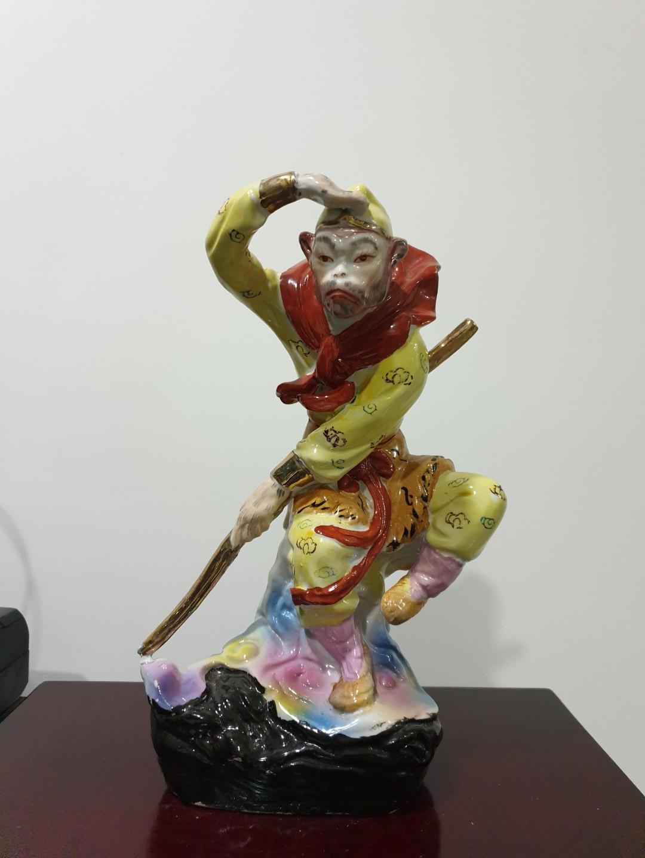 Glazed Monkey God Figurine